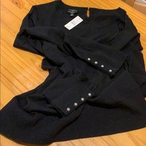 Black merino wool sweater
